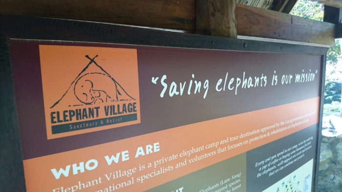 Sign for Elephant Village