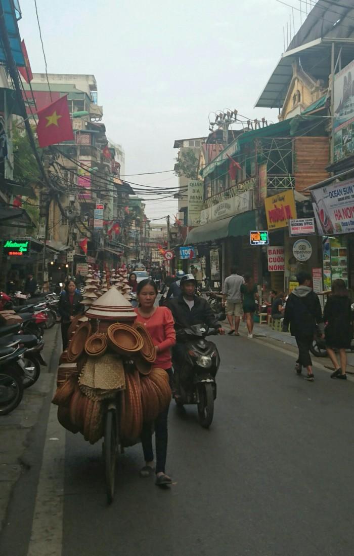 Bustling streets of Hanoi, Vietnam