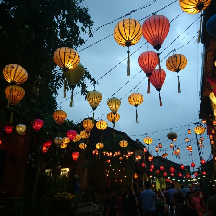 Colourful lanterns at the Hoi An Lantern Festival