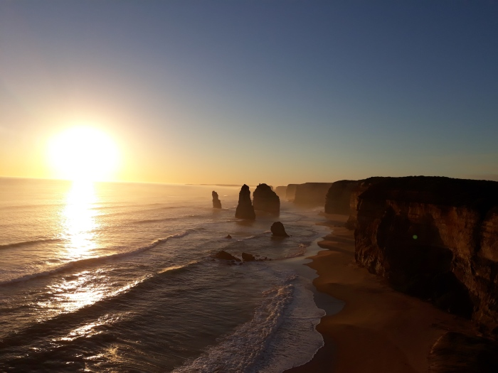 Sunset over the 12 Apostles on The Great Ocean Road