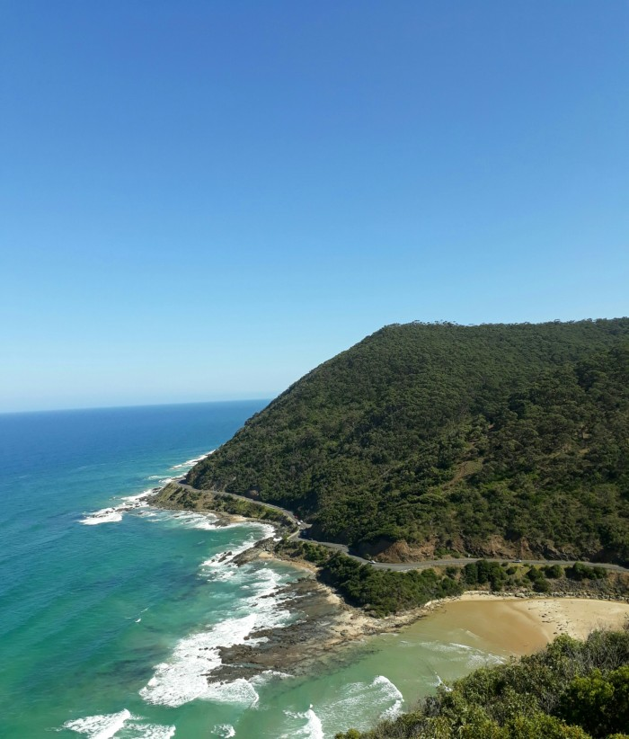 View of The Great Ocean Road from Teddy's Lookout