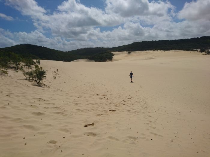 Sandblow en route to Lake Wabby on Fraser Island, Australia