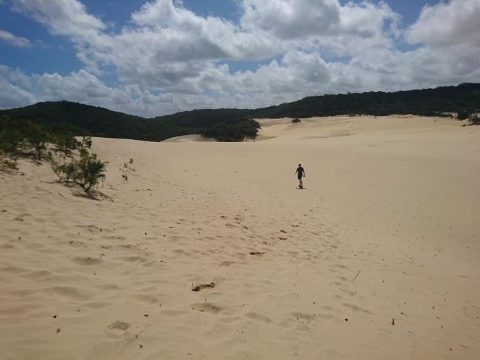 Sandblow en route to Lake Wabby on Fraser Island, Australia