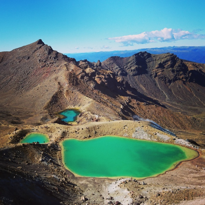 Emerald Lakes on the Tongariro Alpine Crossing in New Zealand