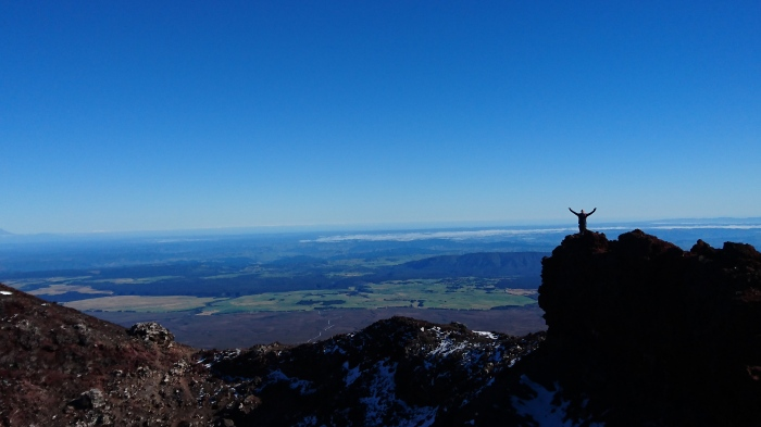 View from the top of Mt Ngauruhoe, Tongariro National Park