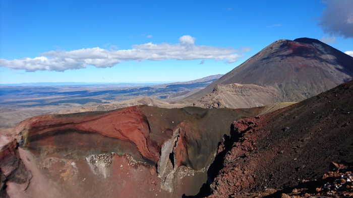 Volcanic landscape on the Tongariro Alpine Crossing, New Zealand