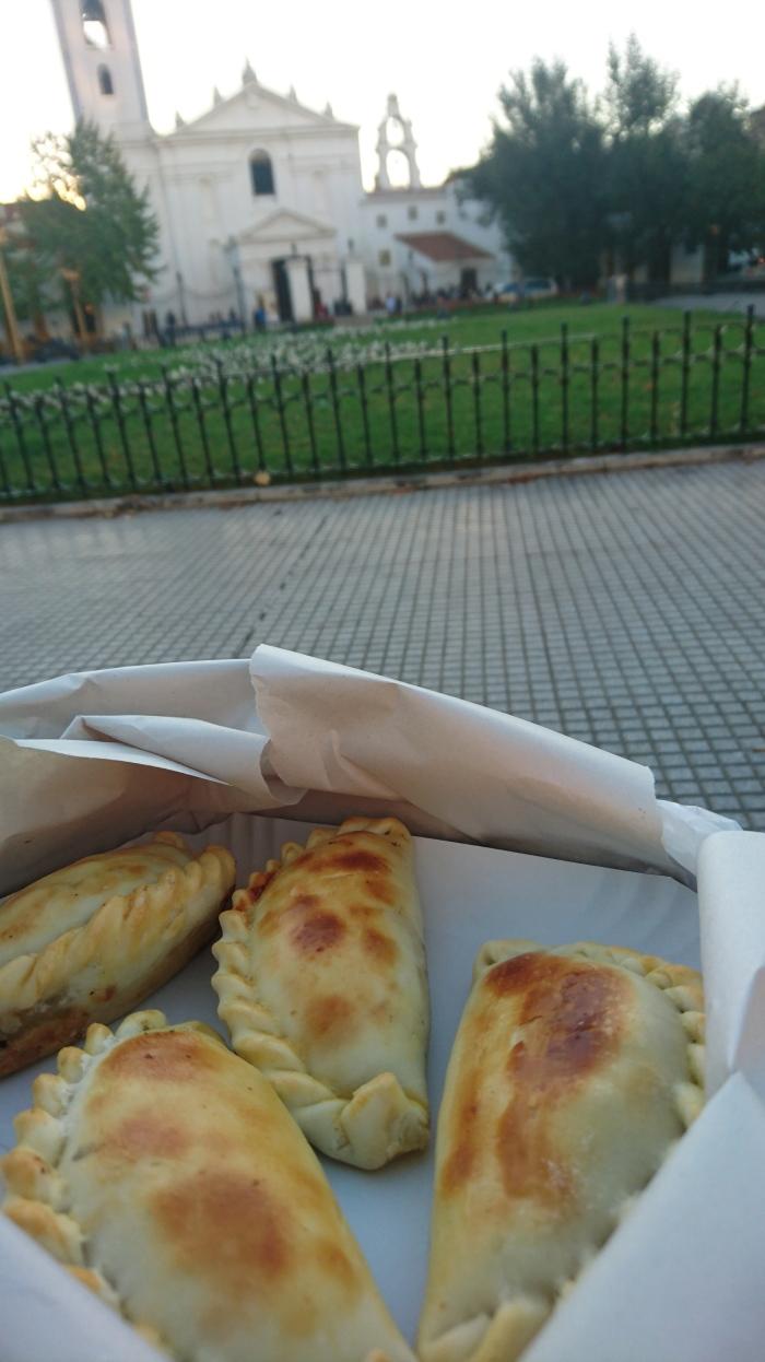 A box of empanadas in Buenos Aires