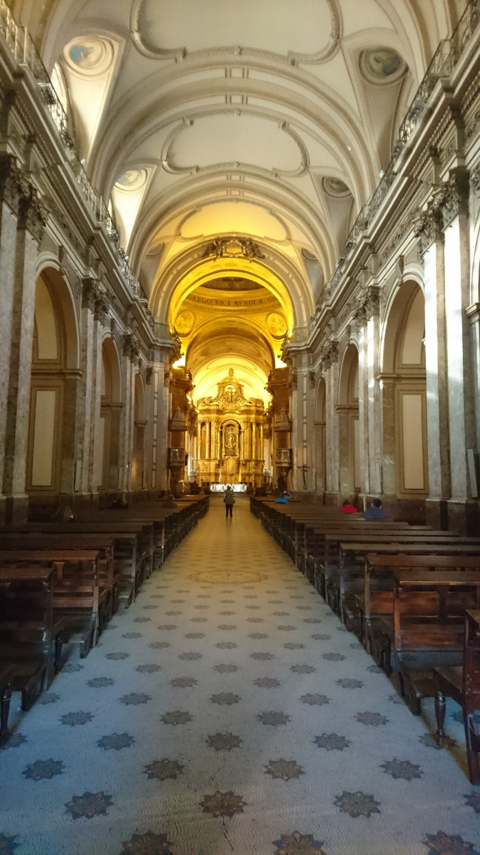 A church interior in Buenos Aires