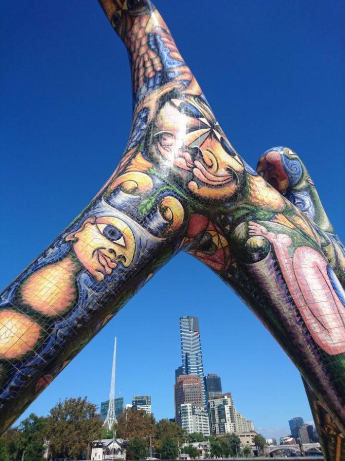 Colourful sculpture in Melbourne