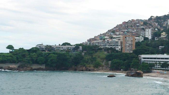 View of Vidigal Favela in Rio de Janeiro