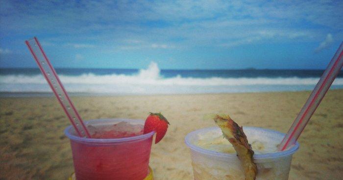 Cocktails on Copacabana beach, Rio de Janeiro