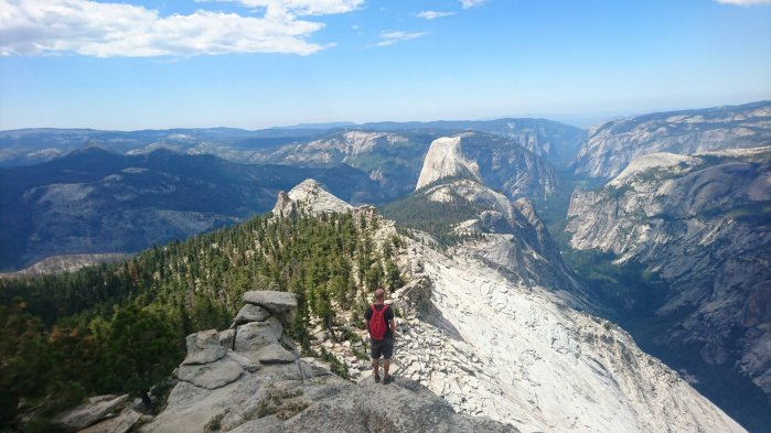 View from the top of Clouds Rest, Yosemite National Park, USA