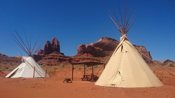 Tipis in Monument Valley, USA