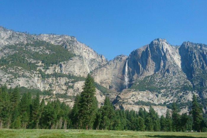 View of Yosemite Falls in Yosemite National Park, USA