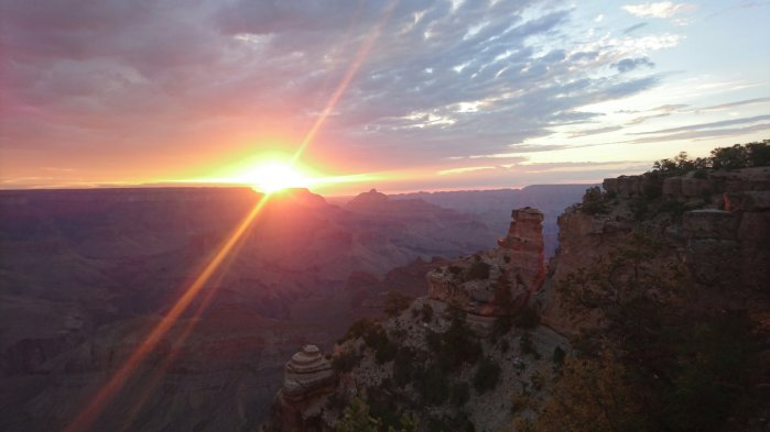 Sunrise over the Grand Canyon National Park, USA