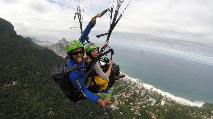 Paragliding over Rio de Janeiro, Brazil