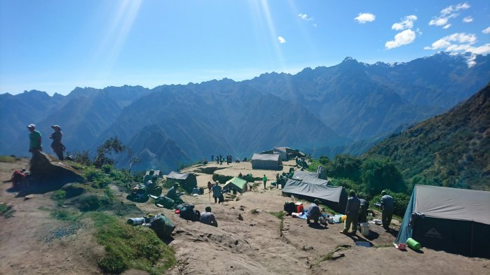 A campsite on the Inca Trail, Peru