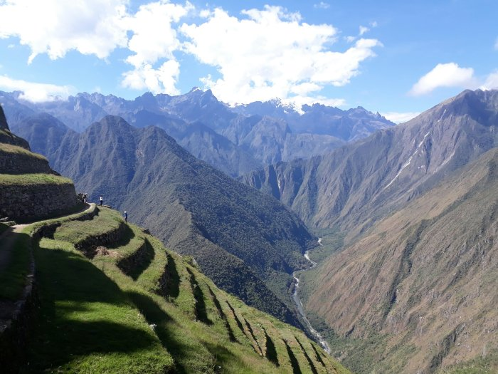 View from historic Inca site on the Inca Trail, Peru