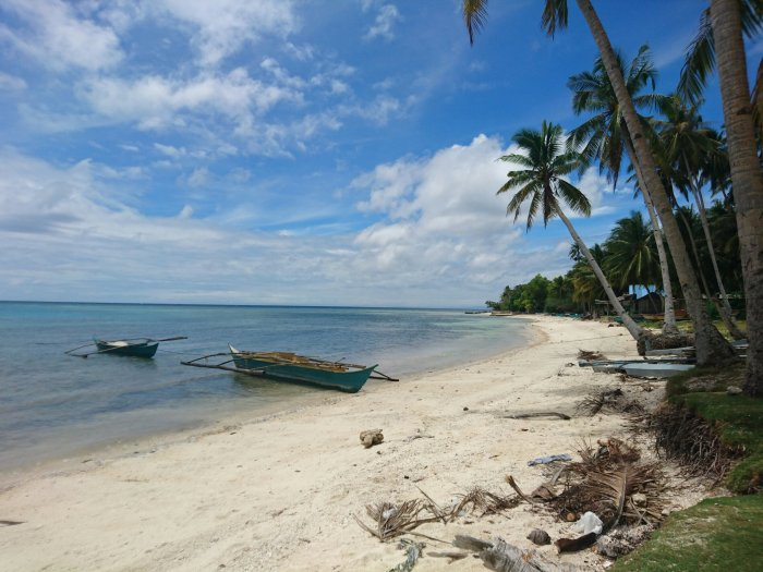 A deserted beach on the island of Siquijor, the Philippines