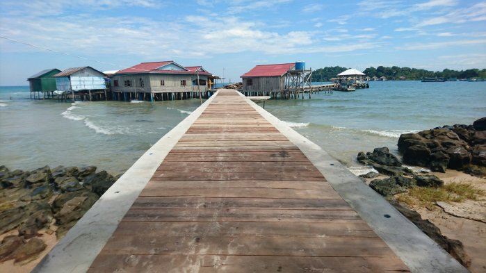 A jetty on Koh Rong island, Cambodia