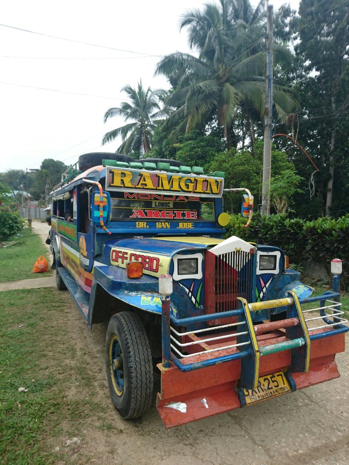 A colourful jeepney on the island of Bohol, the Philippines