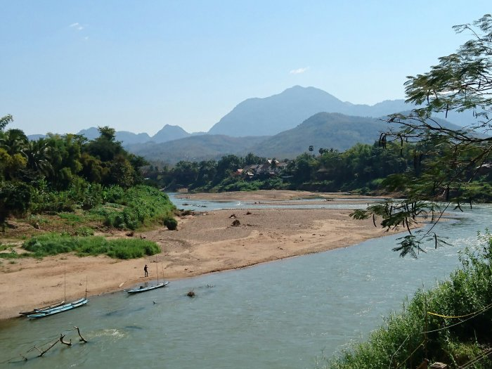 The mighty Mekong river in Luang Prabang, Laos