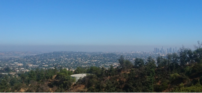 The view of Los Angeles from the Griffith Observatory