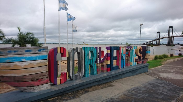 The waterfront in Corrientes, Argentina