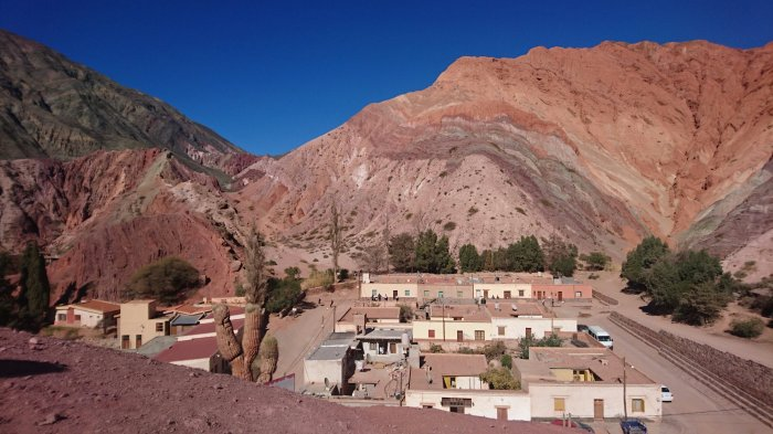 The famous multi-coloured hills of Quebrada de Humahuaca, Argentina