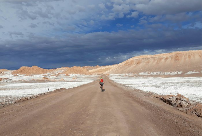 Cycling through the Atacama desert in Chile